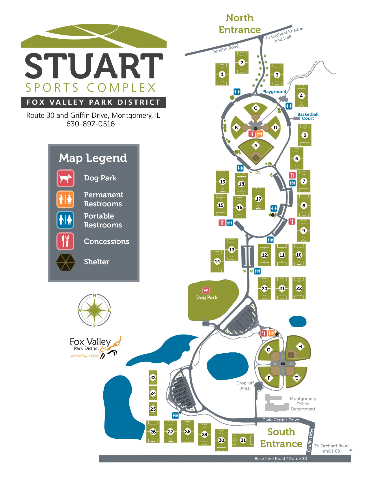 Stuart Sports Complex Field Map